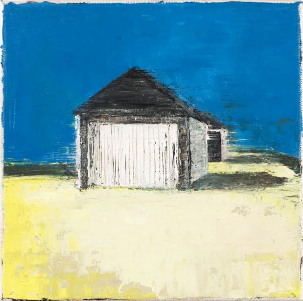 Garages, 20 x 20cm, Oil on canvas, 2009