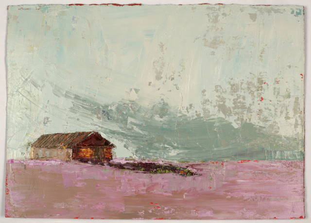 Mauve Morn, Oil on prepared card, 31.5 x 23 cm, 2011