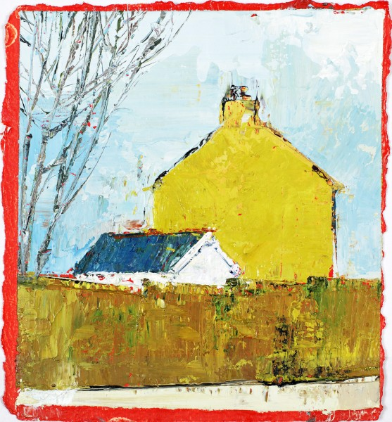 Mustard House, Oil on prepared card, 16.5 x 14.5cm, 2011