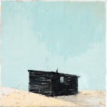 Nestled Hut, 20 x 20cm, Oil on canvas, 2009