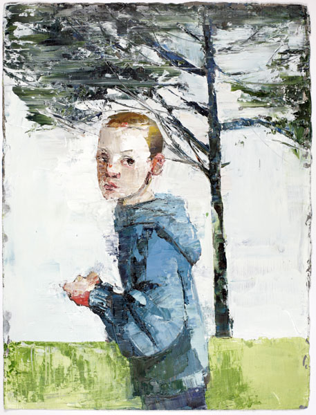 Long Pine, 38 x 28 cm, oil on prepared paper, 2008