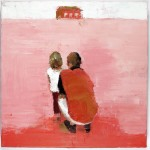 Our Red Hut, 30 x 30 cm, oil on linen, 2008