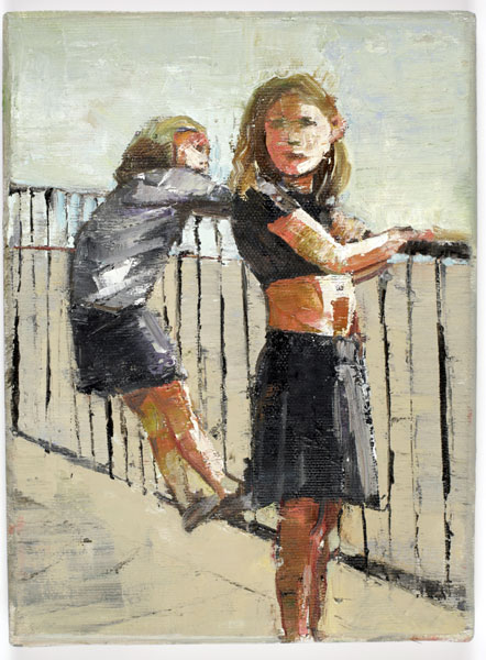Railings, 24 x 18 cm, oil on linen, 2008