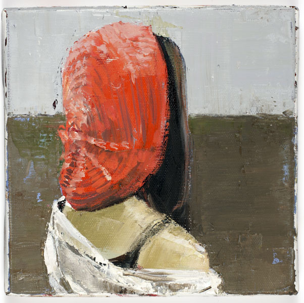 Raspberry Beret, 20 x 20 cm, oil on canvas, 2008