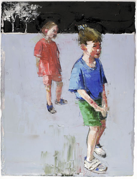 Shy Boy II, 38 x 28 cm, oil on prepared paper, 2008
