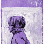 Untitled - Purple Fleece, 21 x 15 cm, ink and gouache on paper, 2008