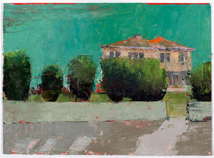 Garden Gate, 28 x 38 cm, Oil on prepared card