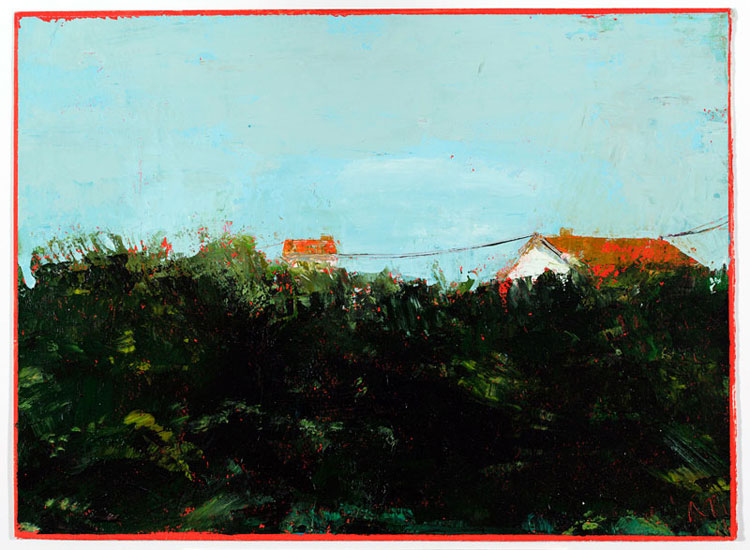 Hedge, 28 x 38 cm, Oil on prepared card, 2012
