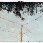 Pine Fringe, 10.5 x 14.5 cm, Oil on prepared card, 2012