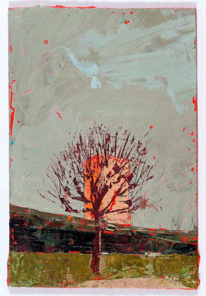 Pink Block, 15 x 10.2 cm, Oil on board, 2012