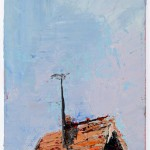 Poky, 7.5 x 12.5 cm, Oil on prepared card, 2012