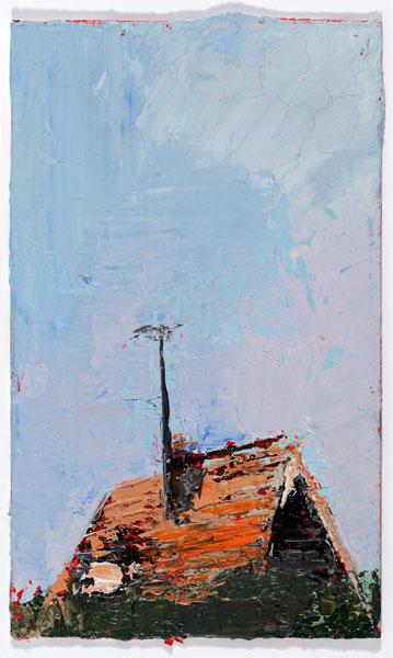 Poky, 7.5 x 12.5 cm, Oil on prepared card, 2012