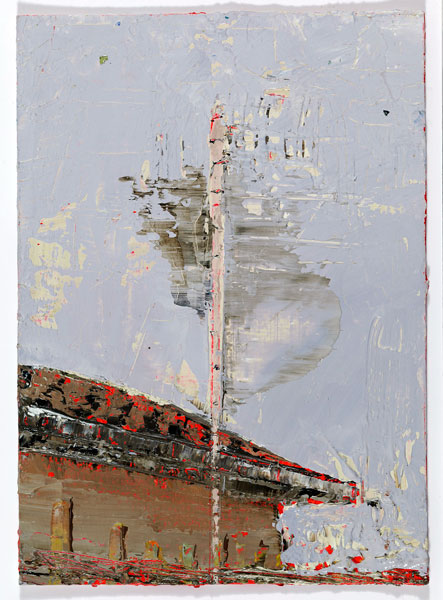 Receiving, 14.8 x 10.4 cm, Oil on prepared card, 2012