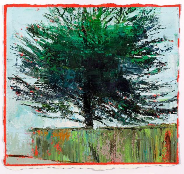 Scale, 28 x 29 cm, Oil on Prepared card, 2012