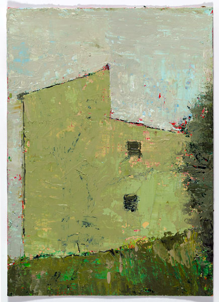 Side View, 14.8 x 10.4 cm, Oil on prepared card, 2012
