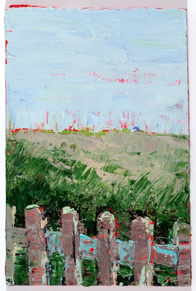 Sugary Fence, 15 x 10.2 cm, Oil on board, 2012