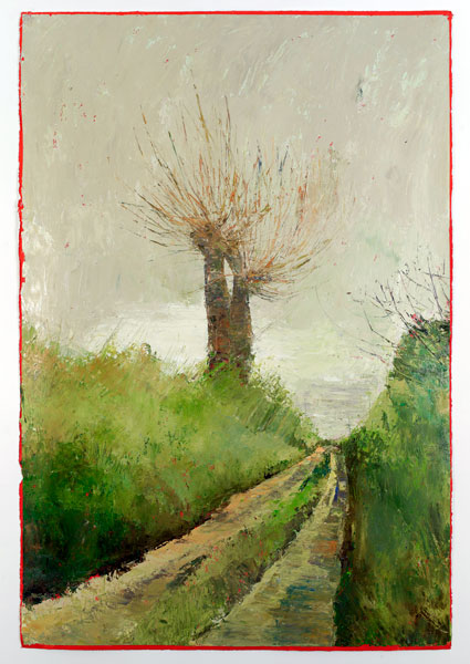 Tall Trees, 112 x 77cm, Oil on prepared card, 2012