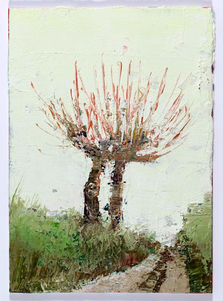 Two Lane, 18 x 12.5 cm, Oil on prepared card, 2012