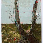 V Tree, 12 x 7.8 cm, Oil on board, 2012