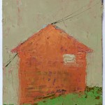 Winter Shape, 14.8 x 10.4 cm, Oil on prepared card, 2012