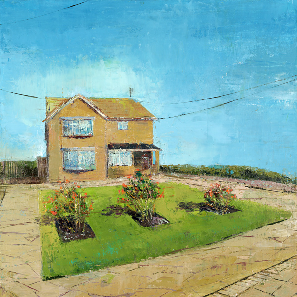 A THREE ROSE HOUSEHOLD, 51 x 51 cm, Oil on Canvas, 2014