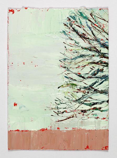 Half Elm, 14.5 x 10.5, Oil on prepared card, 2010