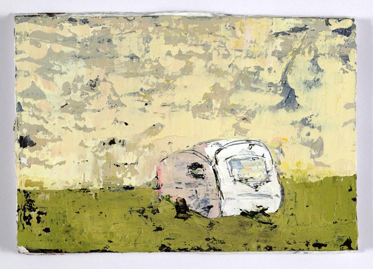 Whitey, 10 x 15 cm, Acrylic on card, 2012