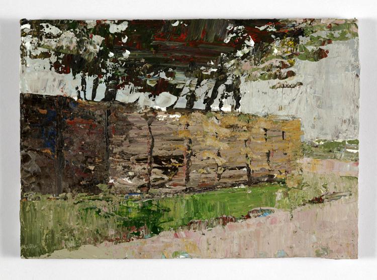 Wicker World, 9.5 x 14cm, Acrylic on card, 2012