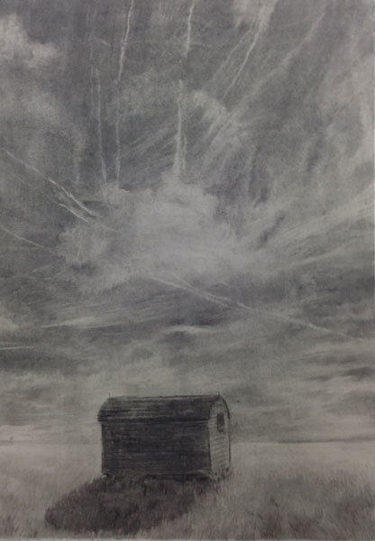 Earth & Sky, 84 x 60 cm, Charcoal on Paper, 2015