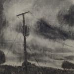 Rustling, 84 x 60 cm, Charcoal on Paper, 2015