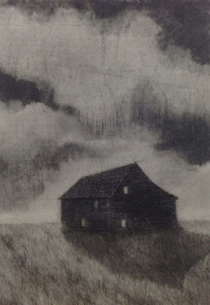 Black House, 84 x 60 cm, Charcoal on Paper, 2015