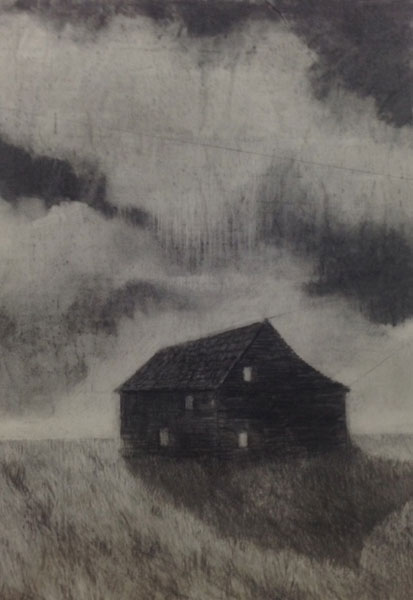 Black House charcoal on paper 84 x 60 cm 2015